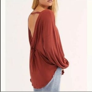 NEW FREE PEOPLE / SHIMMY SHAKE LONG SLEEVE TOP